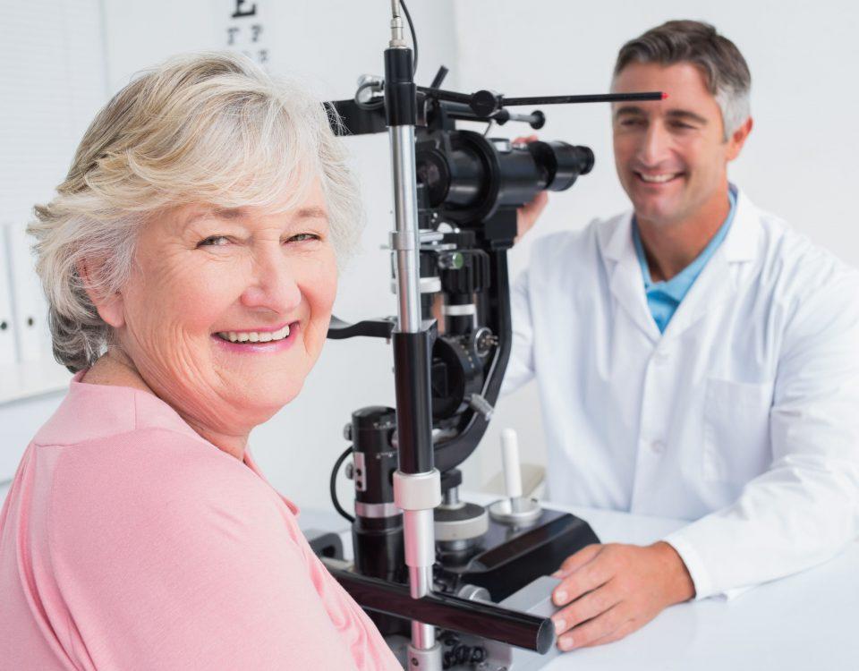 puff of air into eyes, preventing diabetic eye disease